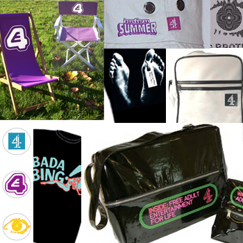 Promotional merchandise produced for Channel 4